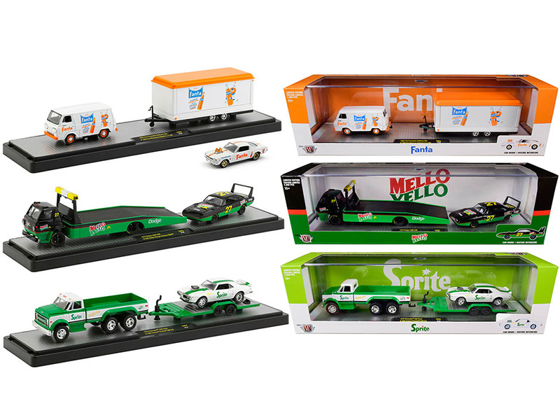 Auto Haulers 3 Sodas Release Set of 3 pieces Limited Edition 4000 pieces Worldwide 1/64 Diecast Models M2 Machines 56000-TW03