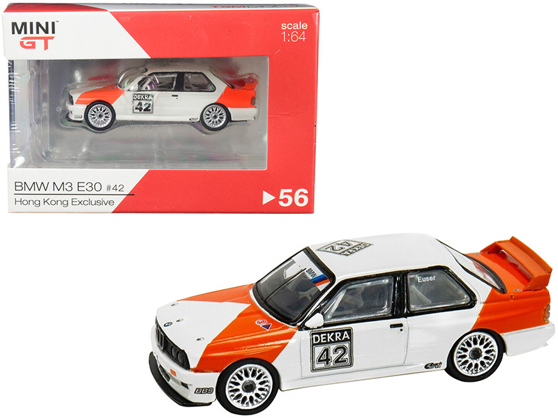 BMW M3 E30 #42 Cor Euser Deutsche Tourenwagen Meisterschaft DTM 1991 Hong Kong Exclusive 1/64 Diecast Model Car True Scale Miniatures MGT00056