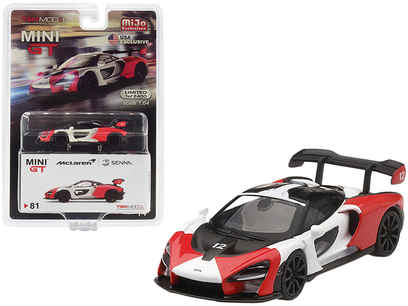 McLaren Senna Orange White Limited Edition 2400 pieces Worldwide 1/64 Diecast Model Car True Scale Miniatures MGT00081