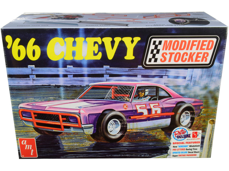 Skill 2 Model Kit 1966 Chevrolet Impala Modified Stocker 1/25 Scale Model AMT AMT1183