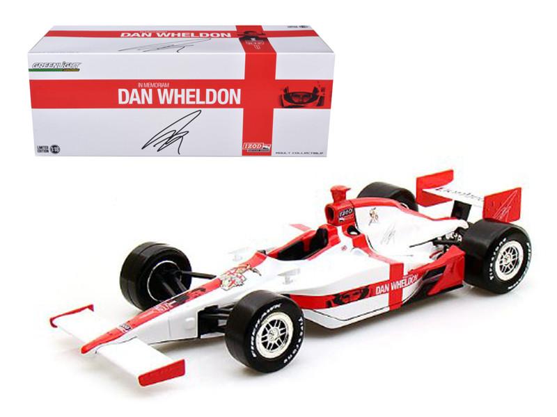 "2011 Dan Wheldon ""R.I.P. Lionheart"" Tribute Indy Car 1/18 Diecast Model Car Greenlight 10908"