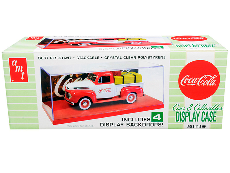 Collectible Display Show Case Red Display Base 4 Coca-Cola Display Backdrops 1/24 1/25 Scale Model Cars Model Kits AMT AMT1199