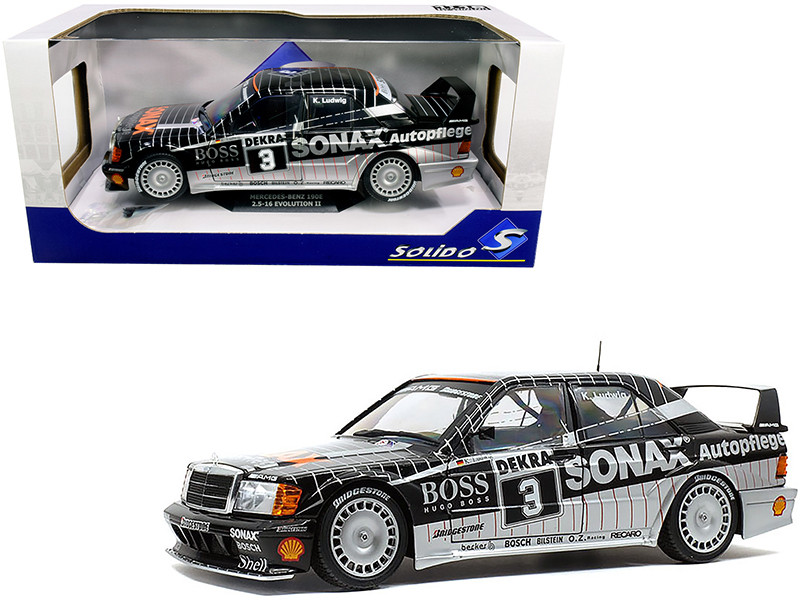 Mercedes Benz 190E 2.5-16 Evolution II #3 Klaus Ludwig DTM Championship 1992 1/18 Diecast Model Car Solido S1801002