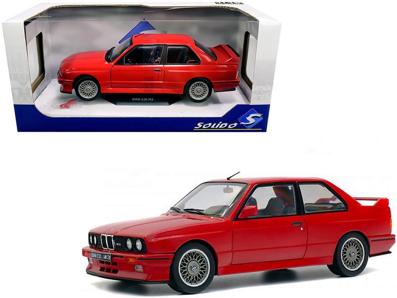 1986 BMW E30 M3 Red 1/18 Diecast Model Car Solido S1801502