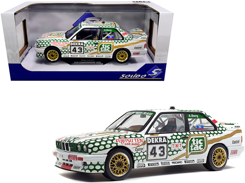 BMW E30 M3 #43 Allen Berg DTM Championship 1991 1/18 Diecast Model Car Solido S1801505