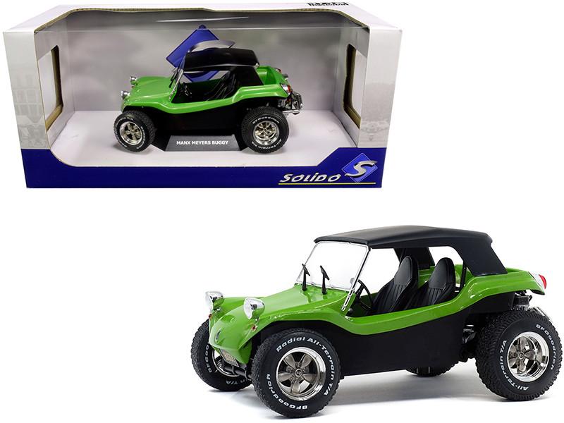 Meyers Manx Buggy Green Metallic Black Soft Top 1/18 Diecast Model Car Solido S1802703