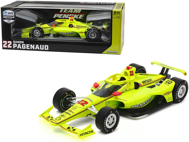 Dallara IndyCar #22 Simon Pagenaud Menards Team Penske NTT IndyCar Series 2020 1/18 Diecast Model Car Greenlight 11087