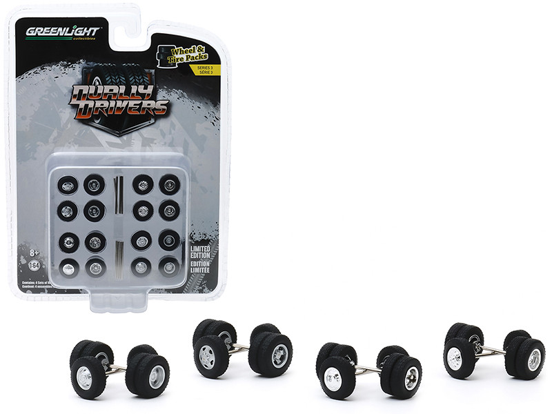 Dually Drivers Wheels and Tires Multipack Set of 24 pieces Wheel & Tire Packs Series 3 1/64 Greenlight 16050 A