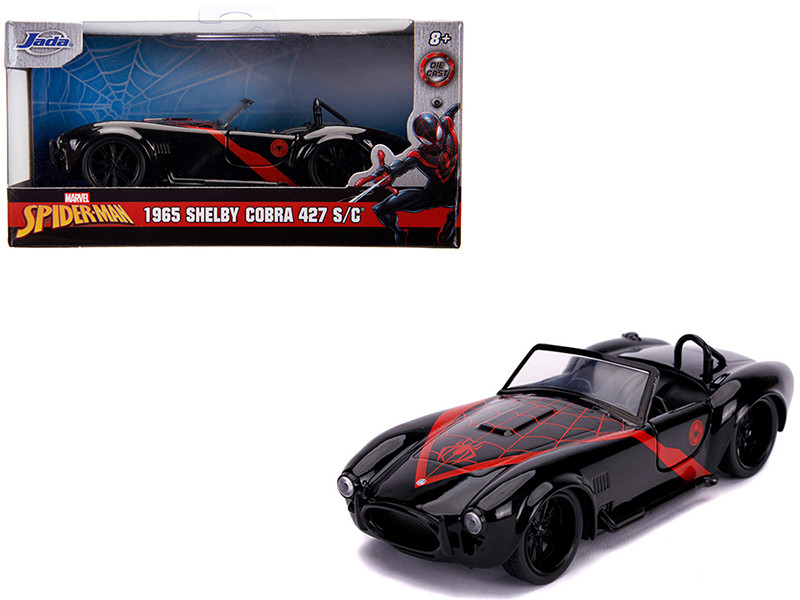 1965 Shelby Cobra 427 S/C Black Spider Man Marvel Series 1/32 Diecast Model Car Jada 31743