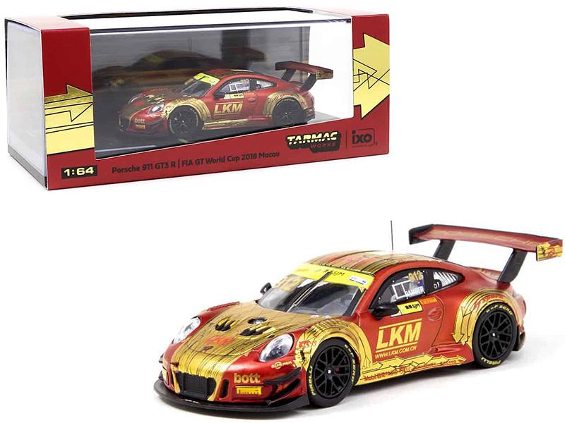 Porsche 911 GT3 R #912 Earl Bamber LKM Macau GT Cup FIA GT World Cup 2018 1/64 Diecast Model Car Tarmac Works T64-032-18MGP912