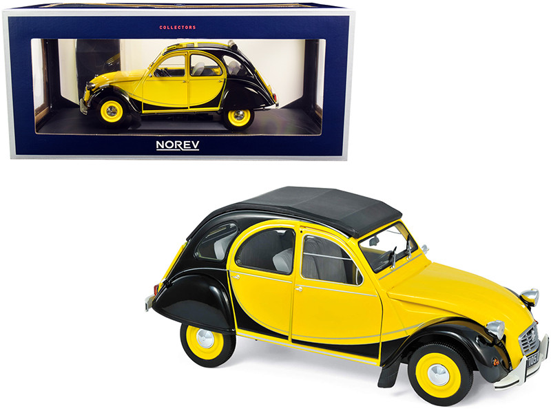1982 Citroen 2CV Charleston Helios Yellow Black 1/18 Diecast Model Car Norev 181493