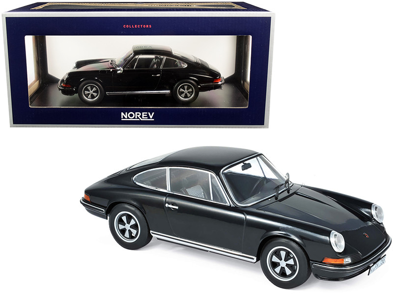 1973 Porsche 911 S Black 1/18 Diecast Model Car Norev 187631