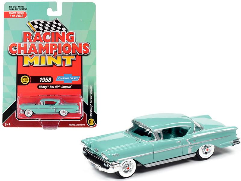 1958 Chevrolet Bel Air Impala Hardtop Glen Green Limited Edition 2016 pieces Worldwide 1/64 Diecast Model Car Racing Champions RCSP013