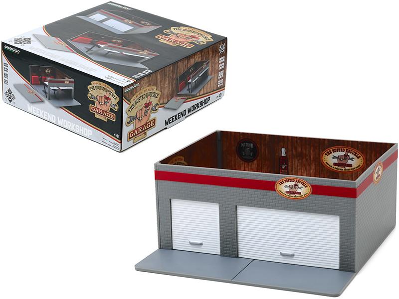Weekend Workshop Busted Knuckle Garage Diorama Mechanic's Corner Series 6 1/64 Scale Models Greenlight 57061
