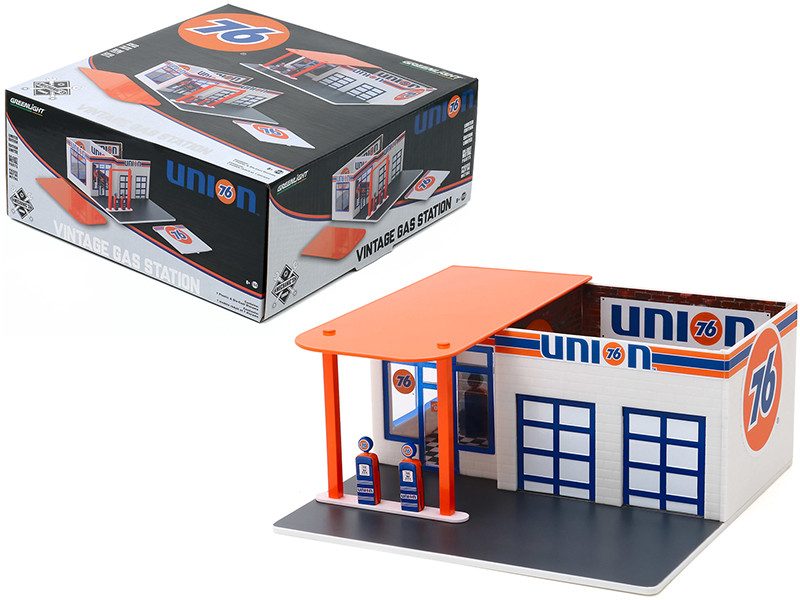 Vintage Service Gas Station Union 76 Diorama Mechanic's Corner Series 6 for 1/64 Scale Models Greenlight 57062