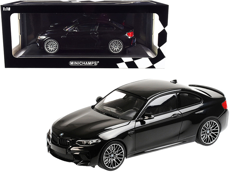 2019 BMW M2 Competition Black Metallic Limited Edition 504 pieces Worldwide 1/18 Diecast Model Car Minichamps 155028001