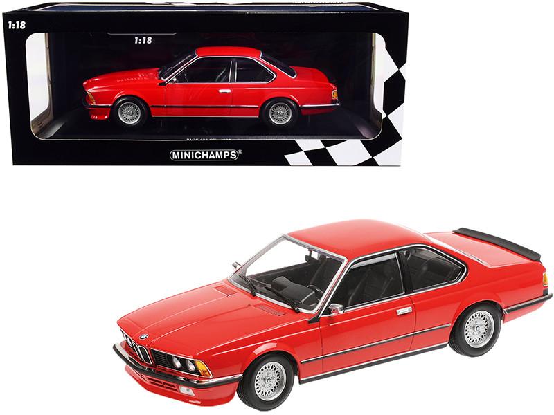 1982 BMW 635 CSi Red Limited Edition 504 pieces Worldwide 1/18 Diecast Model Car Minichamps 155028100