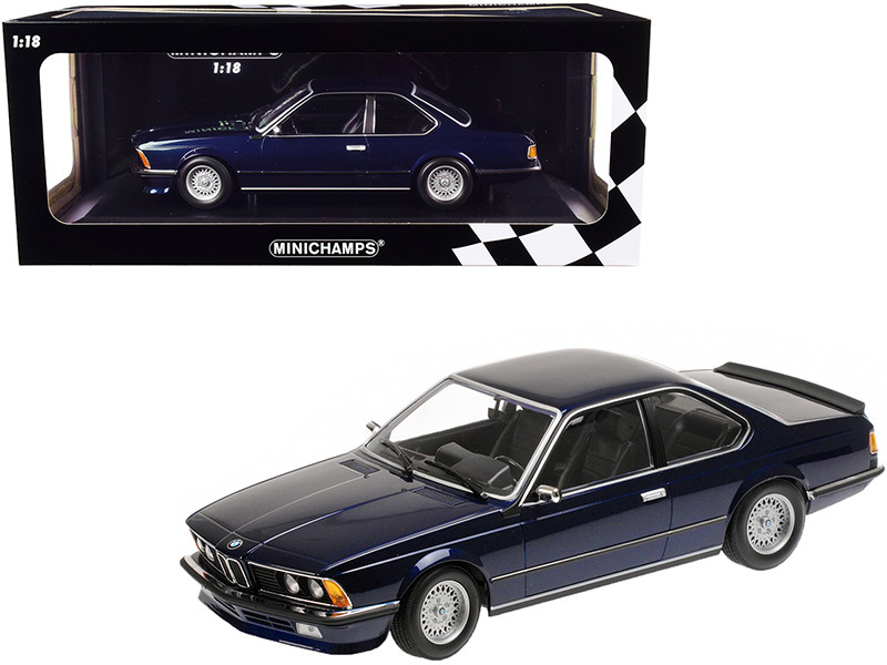 1982 BMW 635 CSi Dark Blue Metallic Limited Edition 504 pieces Worldwide 1/18 Diecast Model Car Minichamps 155028101