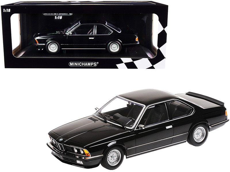 1982 BMW 635 CSi Black Metallic Limited Edition 504 pieces Worldwide 1/18 Diecast Model Car Minichamps 155028104
