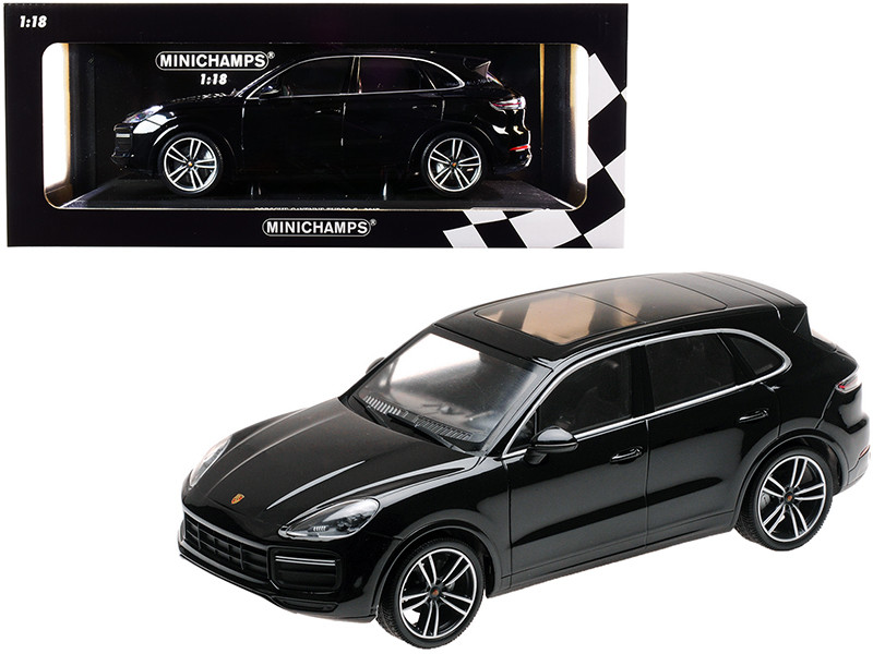 2017 Porsche Cayenne Turbo S Black Limited Edition 504 pieces Worldwide 1/18 Diecast Model Car Minichamps 155066070