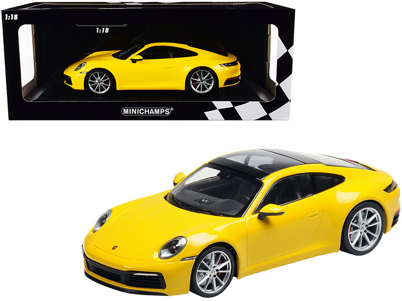2019 Porsche 911 Carrera 4S Yellow Limited Edition 336 pieces Worldwide 1/18 Diecast Model Car Minichamps 155067320