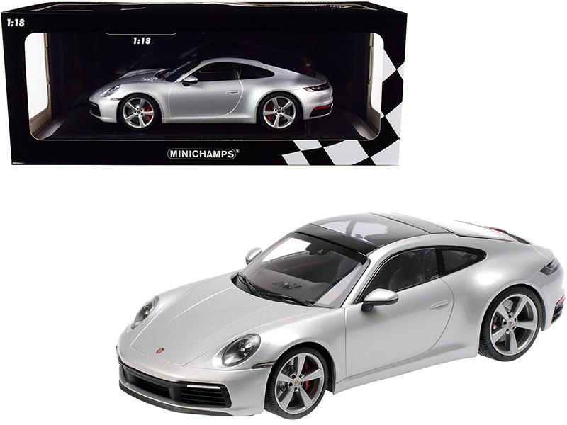 2019 Porsche 911 Carrera 4S Silver Metallic Limited Edition 408 pieces Worldwide 1/18 Diecast Model Car Minichamps 155067322
