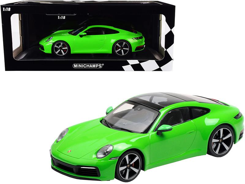 2019 Porsche 911 Carrera 4S Bright Green Limited Edition 312 pieces Worldwide 1/18 Diecast Model Car Minichamps 155067324