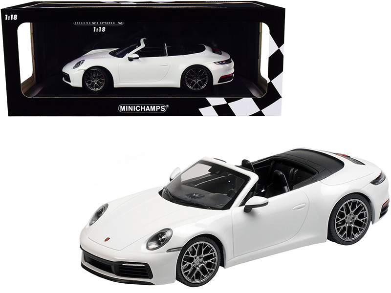 2019 Porsche 911 Carrera 4S Cabriolet White Limited Edition 504 pieces Worldwide 1/18 Diecast Model Car Minichamps 155067330