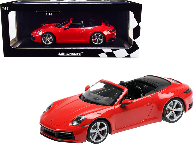 2019 Porsche 911 Carrera 4S Cabriolet Red Limited Edition 504 pieces Worldwide 1/18 Diecast Model Car Minichamps 155067331