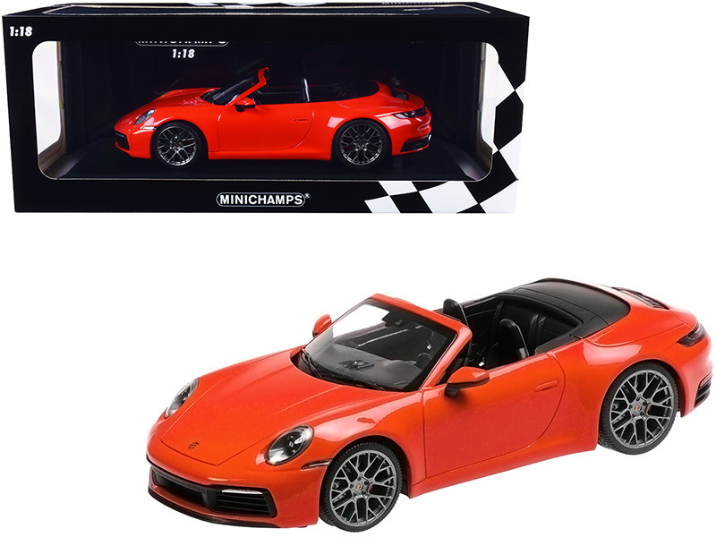 2019 Porsche 911 Carrera 4S Cabriolet Orange Limited Edition 504 pieces Worldwide 1/18 Diecast Model Car Minichamps 155067334