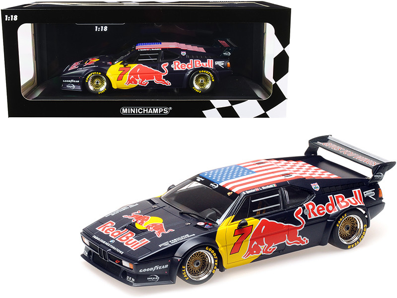 BMW M1 Gr. B #7 Red Bull Dieter Quester Luca Riccitelli Class Winners HRS Daytona Classic 24H 2017 Limited Edition 300 pieces Worldwide 1/18 Diecast Model Car Minichamps 155172907