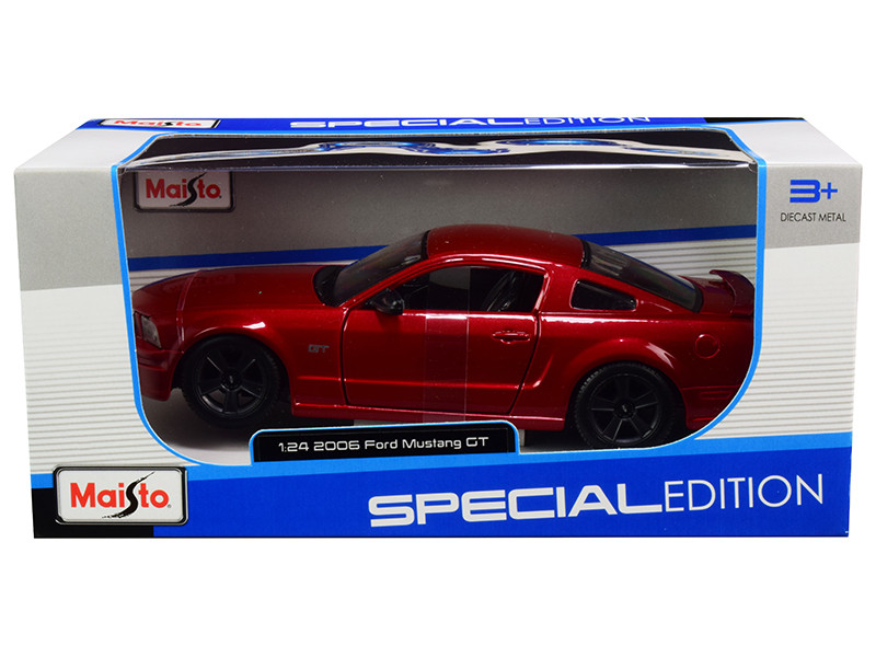 2006 Ford Mustang GT Burgundy Metallic Black Wheels 1/24 Diecast Model Car Maisto 31997