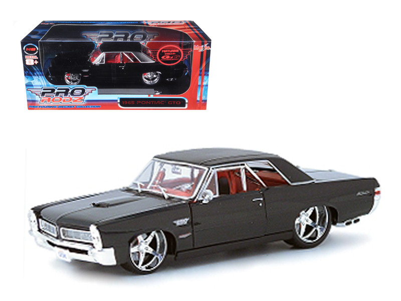 1965 Pontiac GTO Black Custom 1/18 Diecast Car Model Maisto 31065