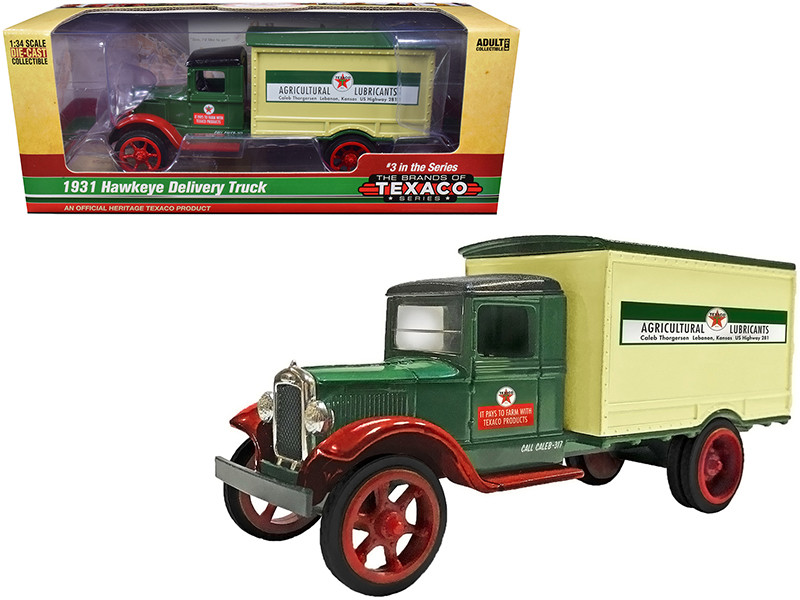 1931 Hawkeye Texaco Delivery Truck Agricultural Lubricants 3rd in the Series The Brands of Texaco Series 1/34 Diecast Model Autoworld CP7585