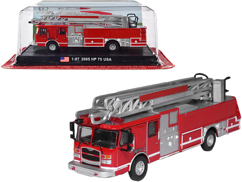 2005 E-One HP 75 Fire Engine 1/87 HO Scale Diecast Model Amercom ACSF42