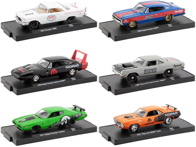 Drivers Set of 6 pieces Blister Packs Release 64 1/64 Diecast Model Cars M2 Machines 11228-64