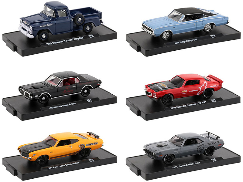 Drivers Set of 6 pieces Blister Packs Release 66 1/64 Diecast Model Cars M2 Machines 11228-66