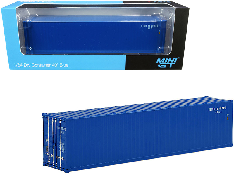 40' Dry Goods Container Blue 1/64 Diecast Model True Scale Miniatures MGTAC10