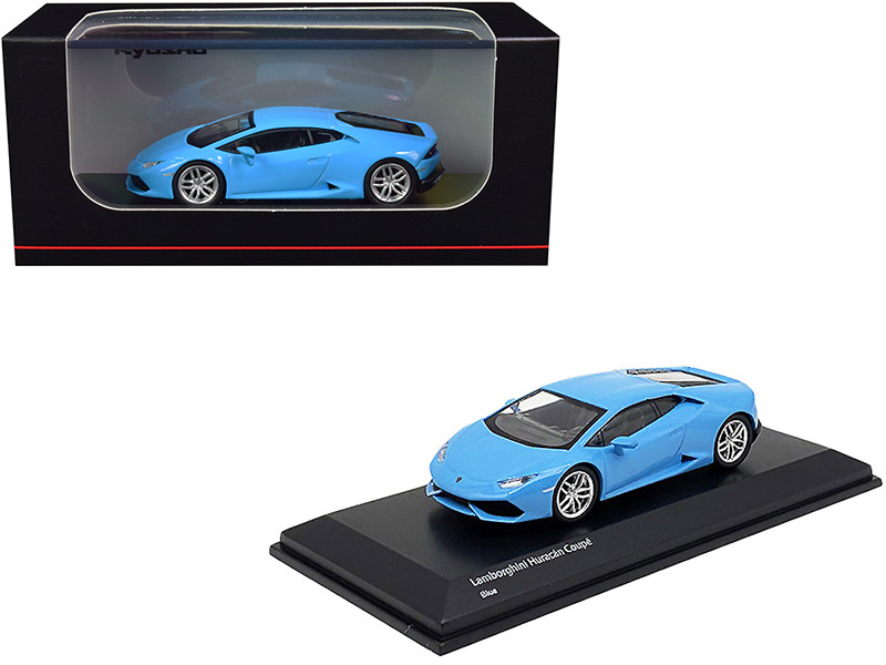 Lamborghini Huracan Coupe Light Blue 1/64 Diecast Model Car Kyosho KS07045AA1