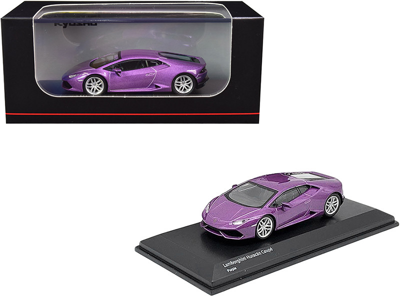 Lamborghini Huracan Coupe Purple Metallic 1/64 Diecast Model Car Kyosho KS07045AA2