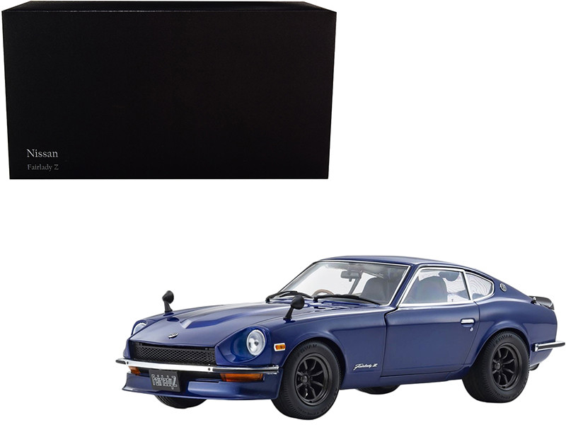 1970 Nissan Fairlady Z-L S30 RHD Right Hand Drive Blue Metallic 1/18 Diecast Model Car Kyosho 08220 BL
