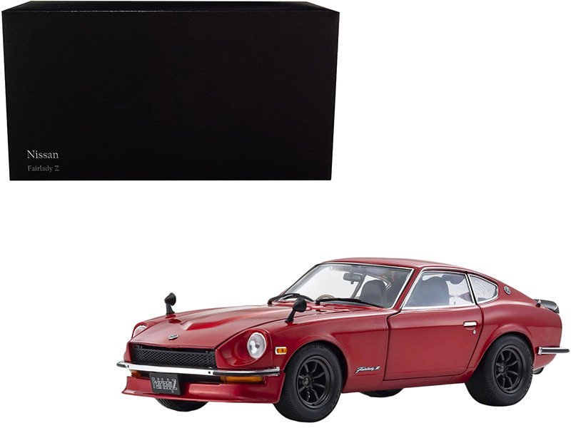 1970 Nissan Fairlady Z-L S30 RHD Right Hand Drive Red Metallic 1/18 Diecast Model Car Kyosho 08220 RM