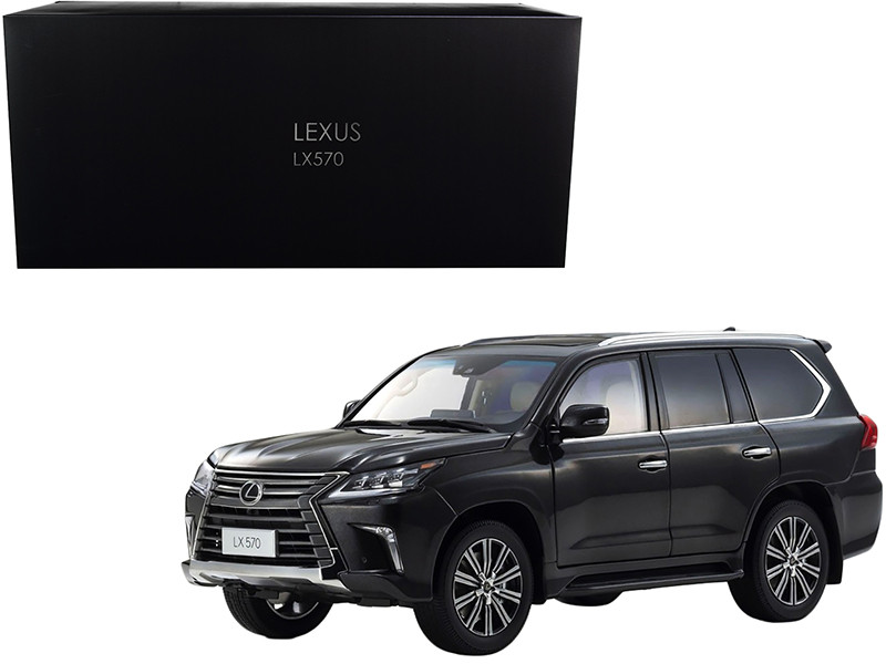 Lexus LX570 Starlight Black Metallic 1/18 Diecast Model Car Kyosho 08955 SBK