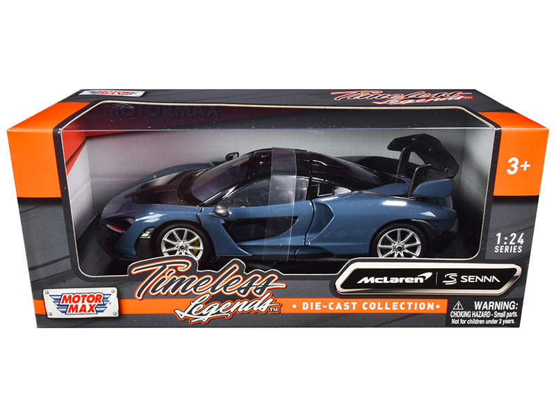 McLaren Senna Gray Metallic Black Timeless Legends 1/24 Diecast Model Car Motormax 79355