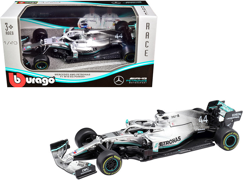 Mercedes AMG Petronas F1 W10 EQ Power+ #44 Lewis Hamilton Formula One Car 1/43 Diecast Model Car Bburago 38036