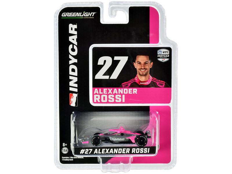 Dallara IndyCar #27 Alexander Rossi AutoNation Andretti Autosport NTT IndyCar Series 2020 1/64 Diecast Model Car Greenlight 10862