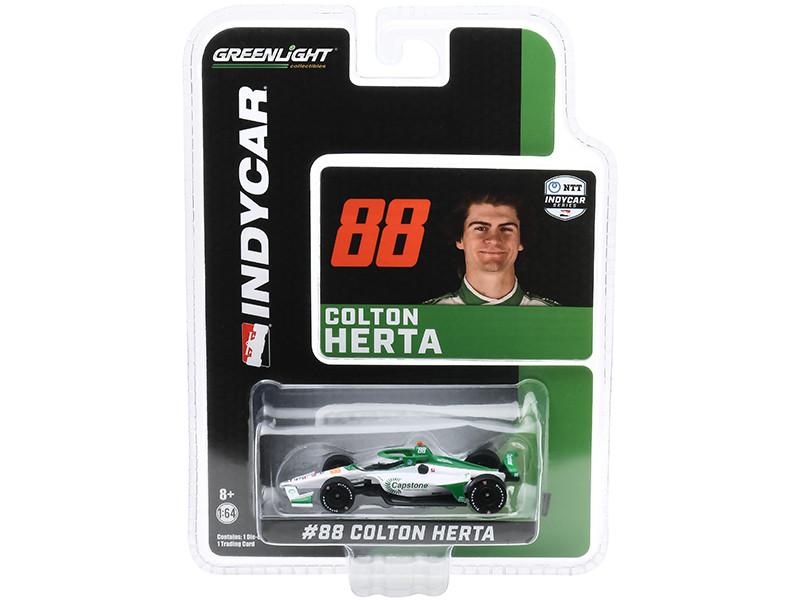 Dallara IndyCar #88 Colton Herta Capstone Turbine Corporation Andretti Harding Steinbrenner Autosport NTT IndyCar Series 2020 1/64 Diecast Model Car Greenlight 10866