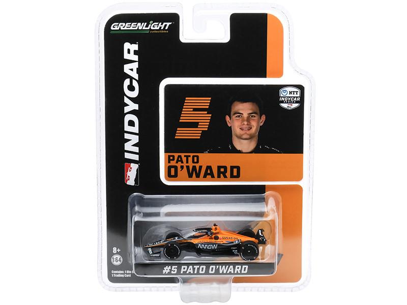 Dallara IndyCar #5 Pato O'Ward Arrow Arrow McLaren SP NTT IndyCar Series 2020 1/64 Diecast Model Car Greenlight 10871