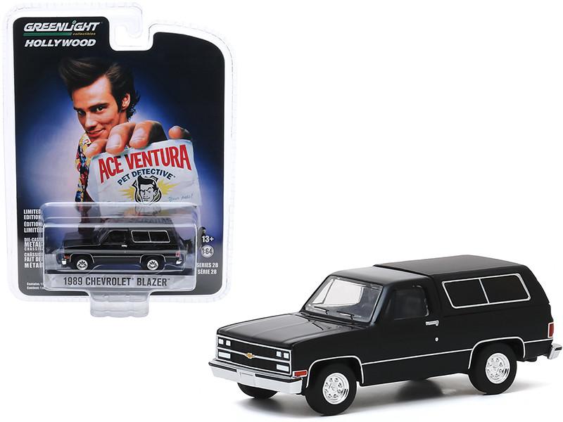 1989 Chevrolet Blazer Black Ace Ventura Pet Detective 1994 Movie Hollywood Series Release 28 1/64 Diecast Model Car Greenlight 44880 E