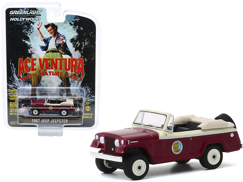 1967 Jeep Jeepster Convertible Ace Ventura When Nature Calls 1995 Movie Hollywood Series Release 28 1/64 Diecast Model Car Greenlight 44880 F